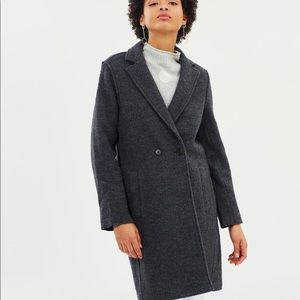 J. Crew boiled wool Daphne peacoat topcoat